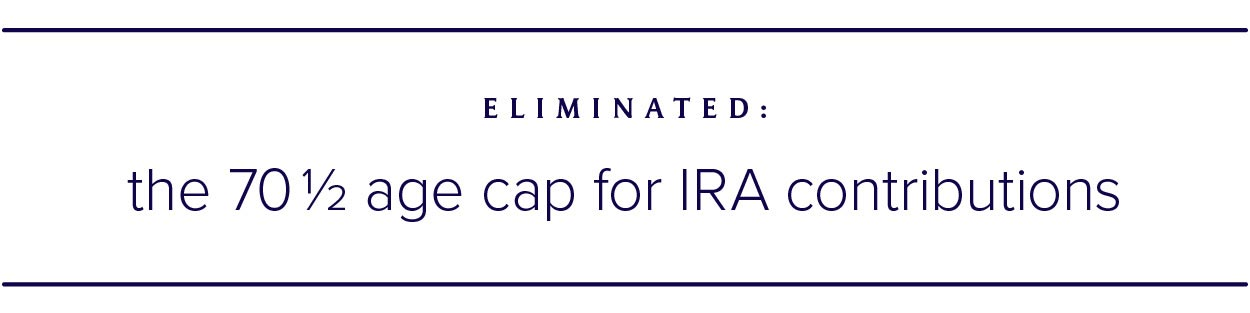 70 1/2 age cap for IRA contributions