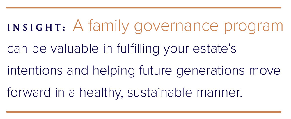 A family governance program can be valuable