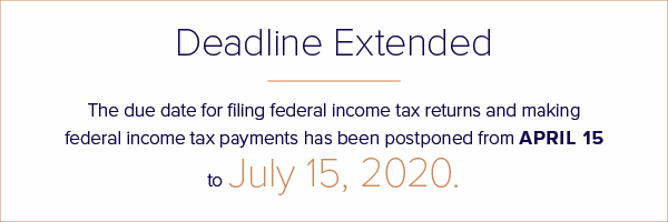 Tax filing deadline extended to July 15, 2020
